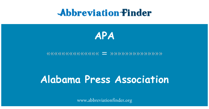 APA: Alabama Press Association