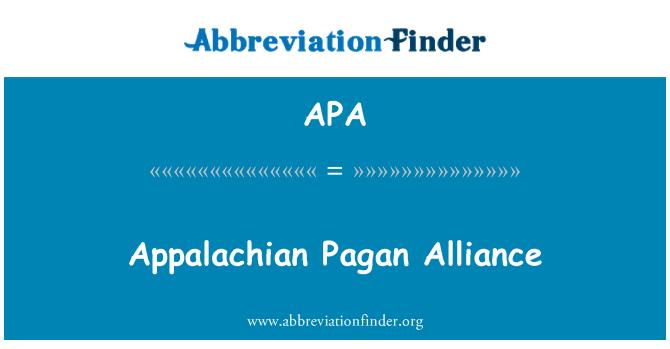 APA: Appalachian Pagan Alliance