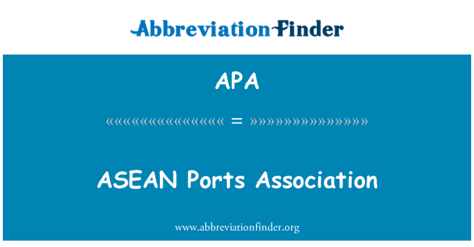 APA: ASEAN Ports Association