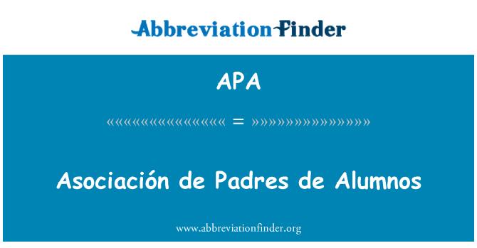 APA: Asociación de Padres de Alumnos