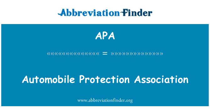 APA: Automobile Protection Association