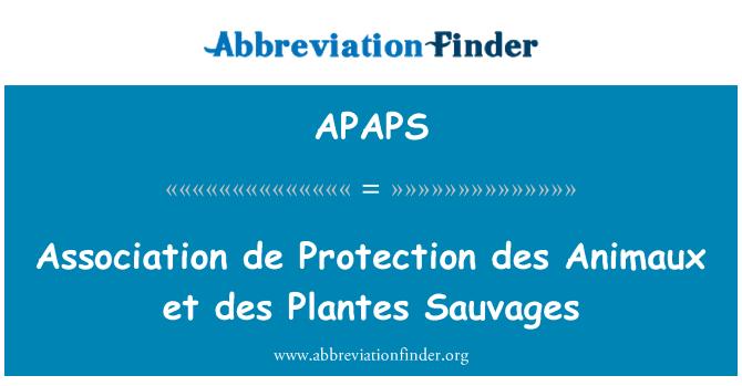 APAPS: Association de Protection des Animaux et des Plantes Sauvages