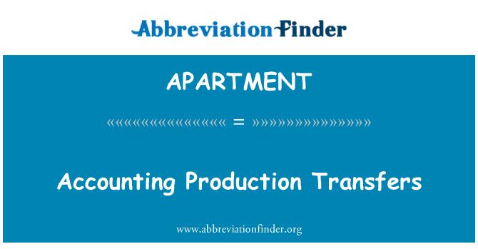 APARTMENT: Transferências de produção de contabilidade