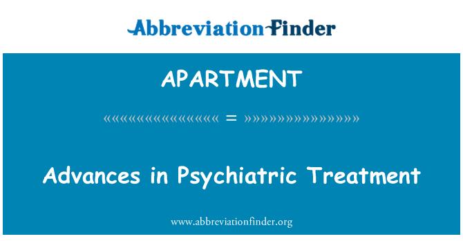 APARTMENT: Avanços no tratamento psiquiátrico