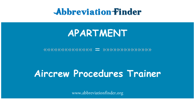 APARTMENT: Procedimentos de tripulações Trainer