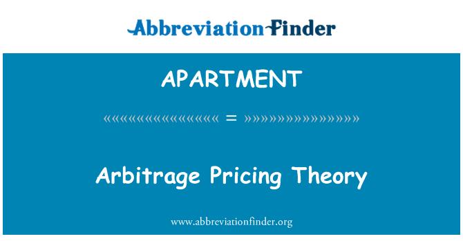 APARTMENT: Arbitraj harga teori