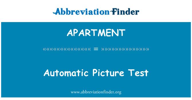 APARTMENT: Gambar automatik ujian