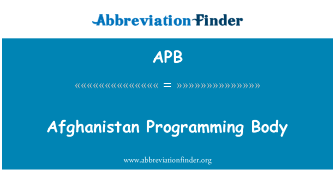 APB: Afghanistan Programming Body