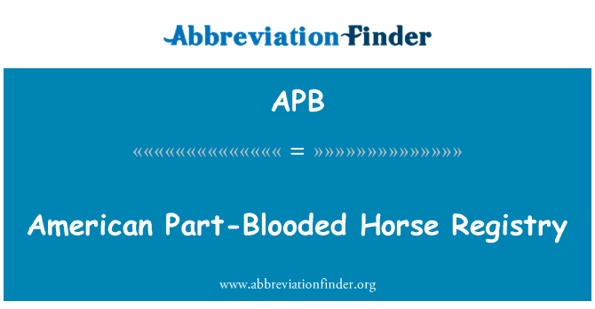 APB: American Part-Blooded Horse Registry