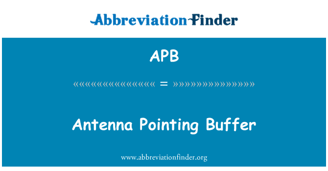 APB: Antenna Pointing Buffer