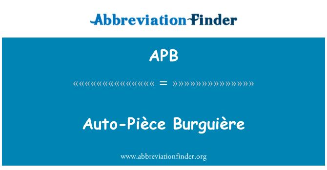 APB: Auto-Pièce Burguière