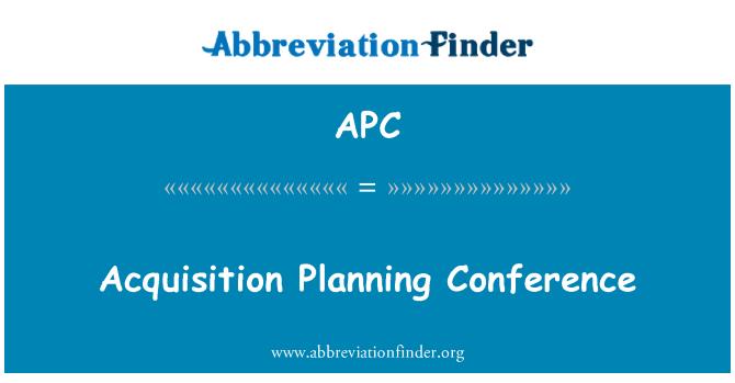 APC: Acquisition Planning Conference
