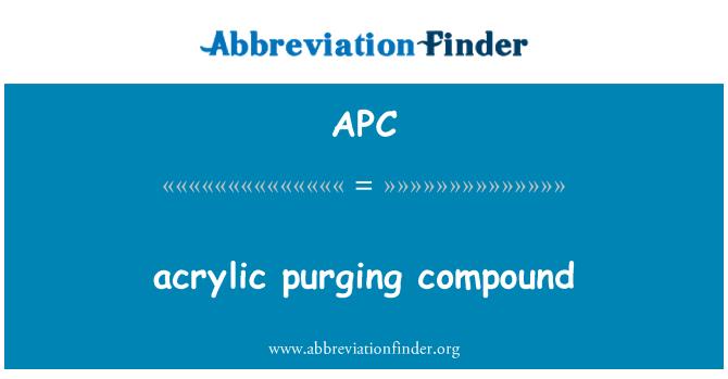 APC: acrylic purging compound