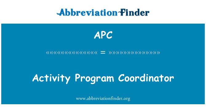 APC: Activity Program Coordinator