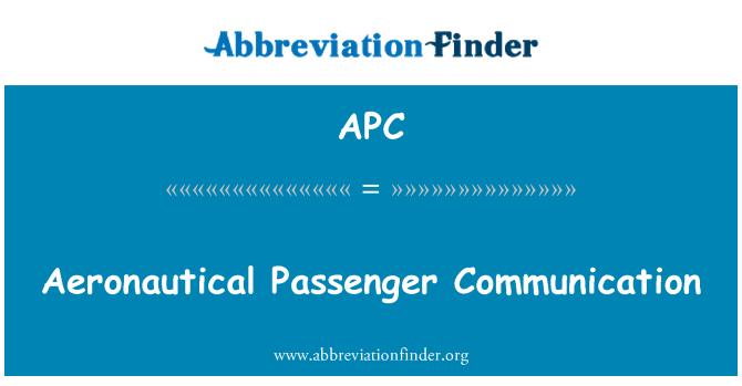 APC: Aeronautical Passenger Communication