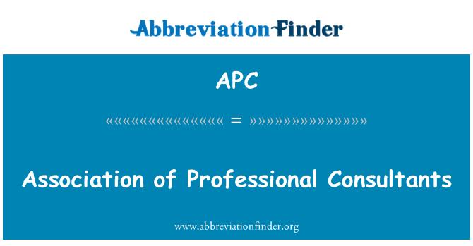 APC: Association of Professional Consultants