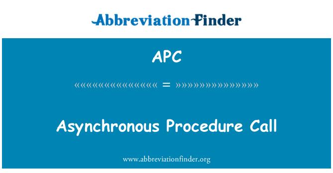 APC: Asynchronous Procedure Call