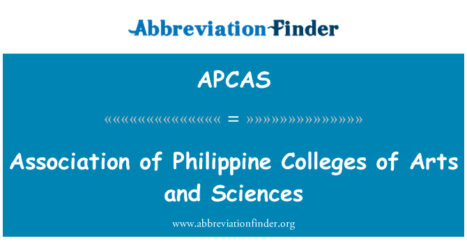 APCAS: Association of Philippine Colleges of Arts and Sciences