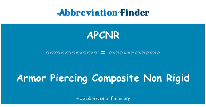 APCNR: Armor Piercing Composite Non Rigid