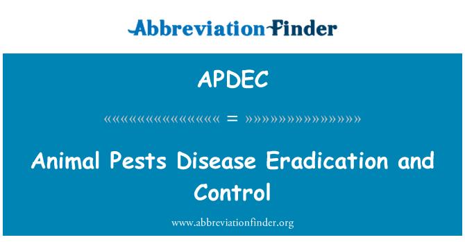 APDEC: Animal Pests Disease Eradication and Control