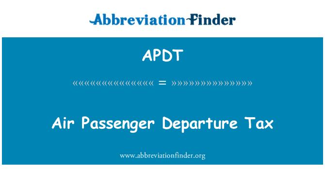 APDT: Air reisijate lahkumist maksu