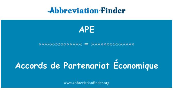 APE: Accords de Partenariat Économique