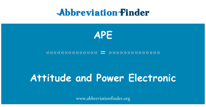 APE: Attitude and Power Electronic