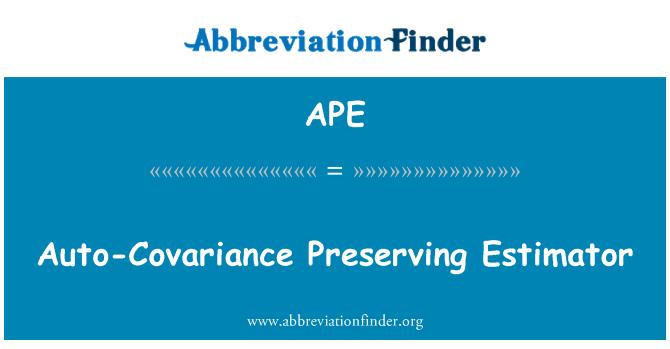 APE: Auto-Covariance Preserving Estimator
