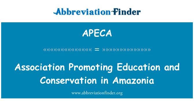 APECA: Pertubuhan yang menggalakkan pendidikan dan pemuliharaan di Amazonia