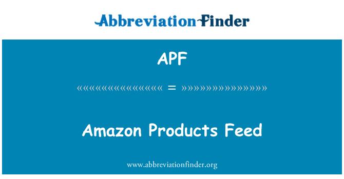 APF: Amazon Products Feed