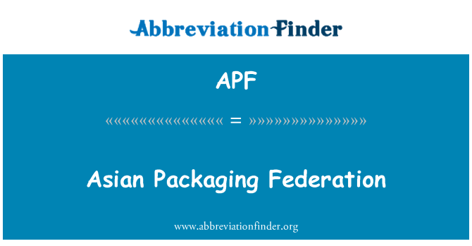 APF: Asian Packaging Federation