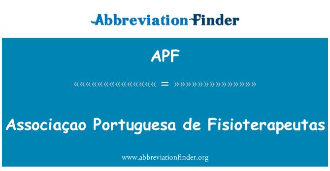 APF: Associaçao Portuguesa de Fisioterapeutas