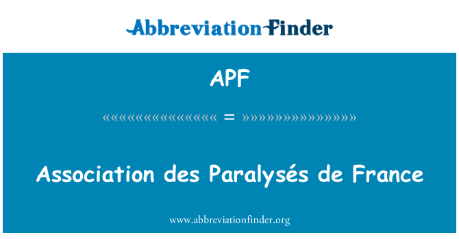 APF: Association des Paralysés de France