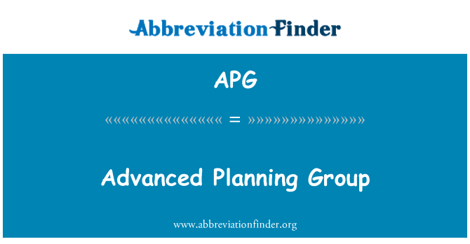 APG: Advanced Planning Group