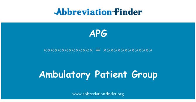 APG: Ambulatory Patient Group