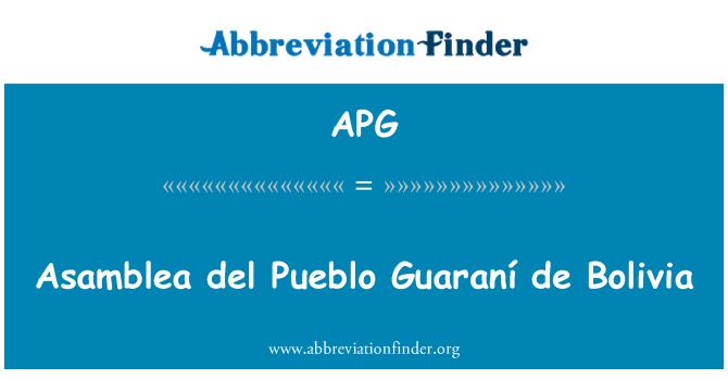 APG: Asamblea del Pueblo Guaraní de Bolivia