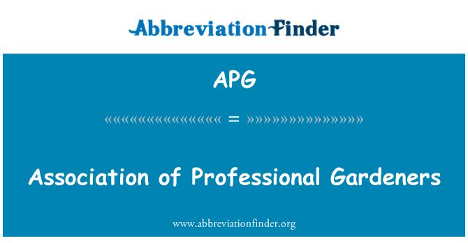 APG: Association of Professional Gardeners