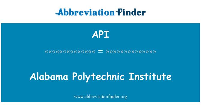 API: Alabama Polytechnic Institute