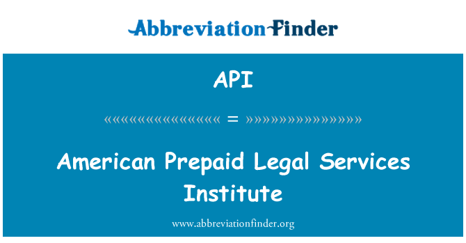 API: American Prepaid Legal Services Institute