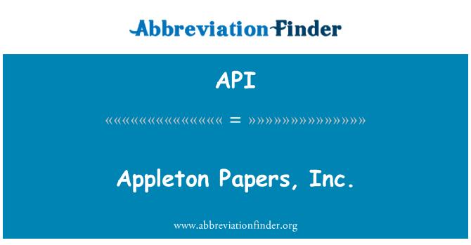 API: Appleton Papers, Inc.