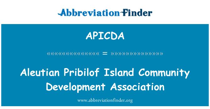 APICDA: Aleutian Pribilof Island Community Development Association