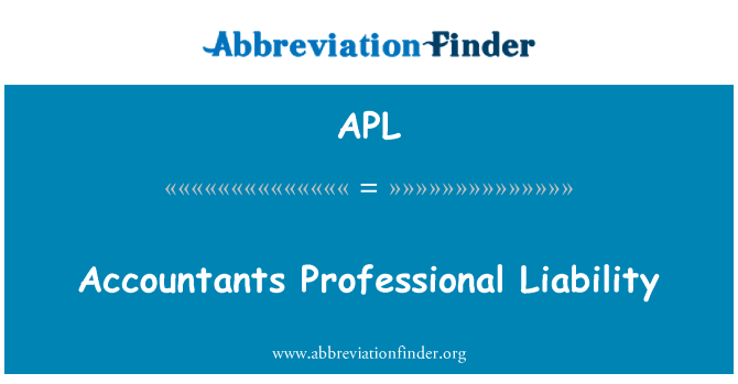 APL: Accountants Professional Liability