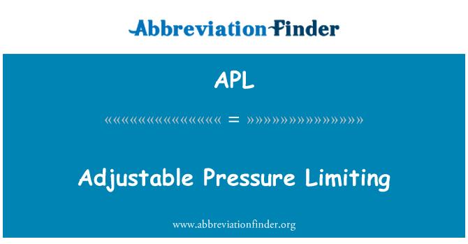 APL: Adjustable Pressure Limiting