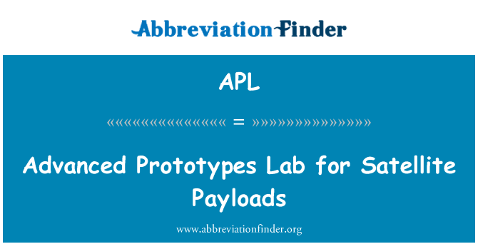 APL: Advanced Prototypes Lab for Satellite Payloads