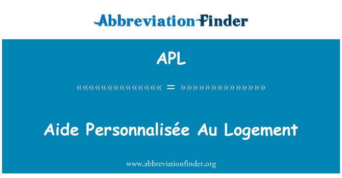 APL: Aide Personnalisée Au Logement