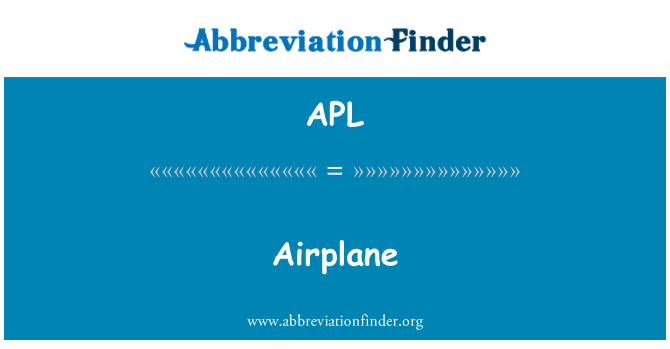 APL: Airplane