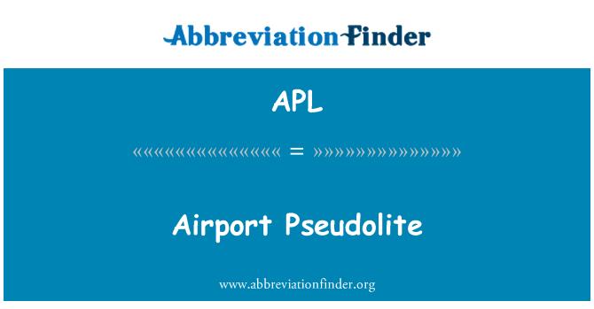 APL: Airport Pseudolite