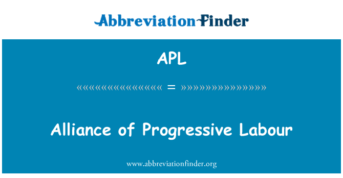 APL: Alliance of Progressive Labour