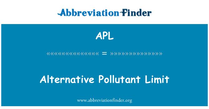 APL: Alternative Pollutant Limit