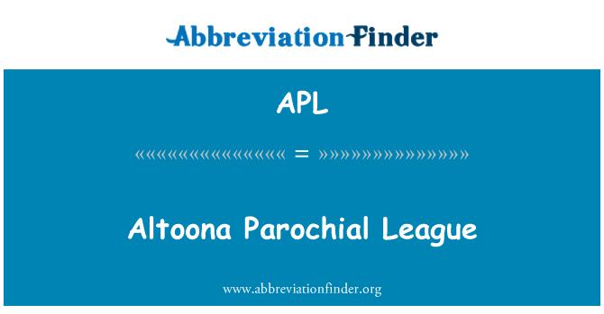 APL: Altoona Parochial League